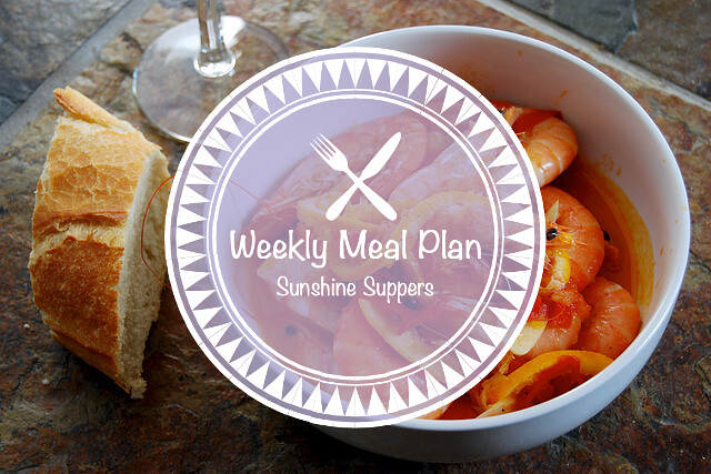 Sunshine Suppers Weekly Meal Plan