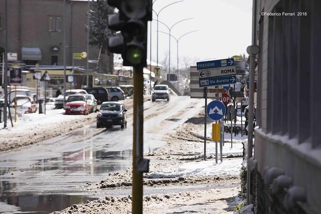 neve a La Storta_Cartello Fregene