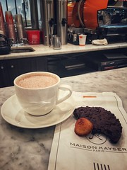 Chocolate break at Maison Kayser in Brooklyn