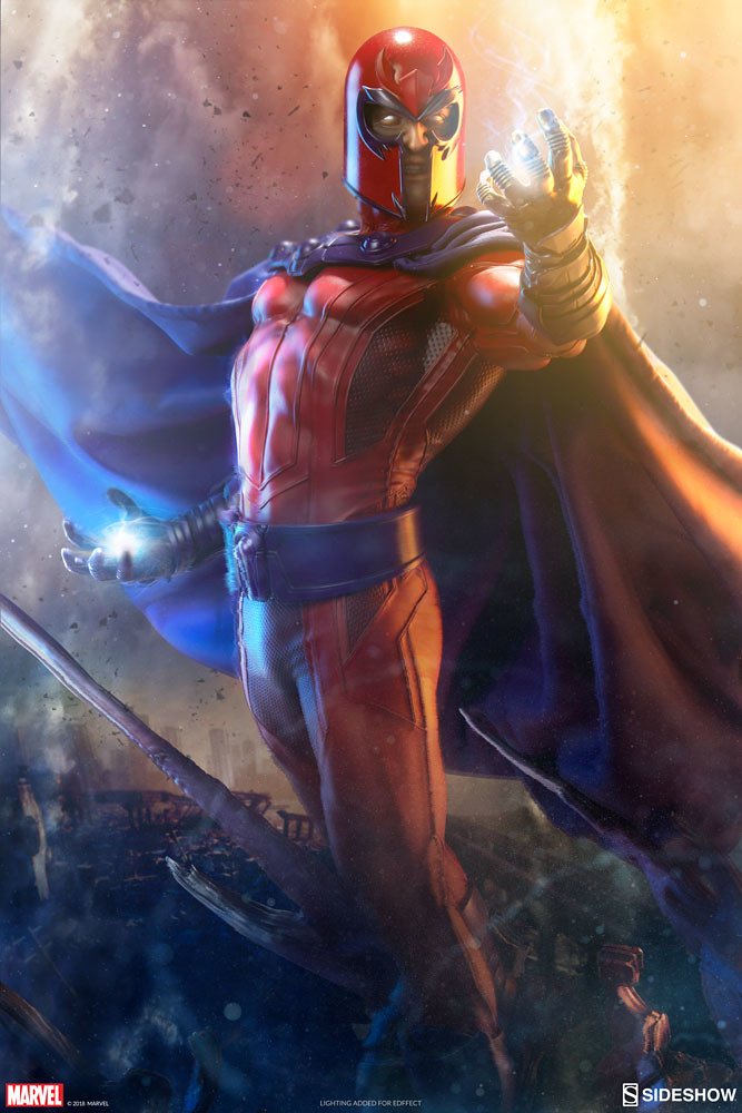 真的飄起來了?! Sideshow Collectibles Marvel Comics【萬磁王】Magneto Maquette 1/4 比例全身雕像作品