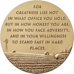 Bob dole Congressional medal bronze reverse