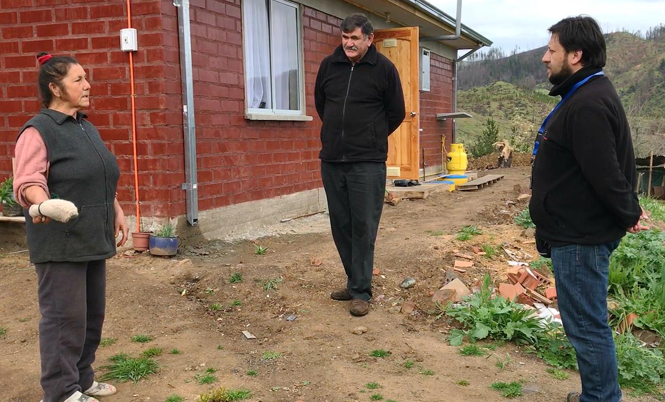 PROVINCIA DE LINARES; Familias damnificadas por incendios forestales agradecen rapidez en reconstrucción