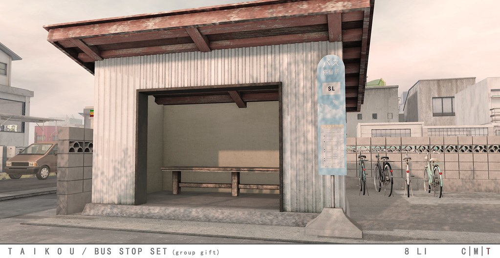 taikou / bus stop set (group gift) - TeleportHub.com Live!