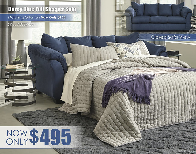 Blue Darcy Sleeper Sofa_75007-36
