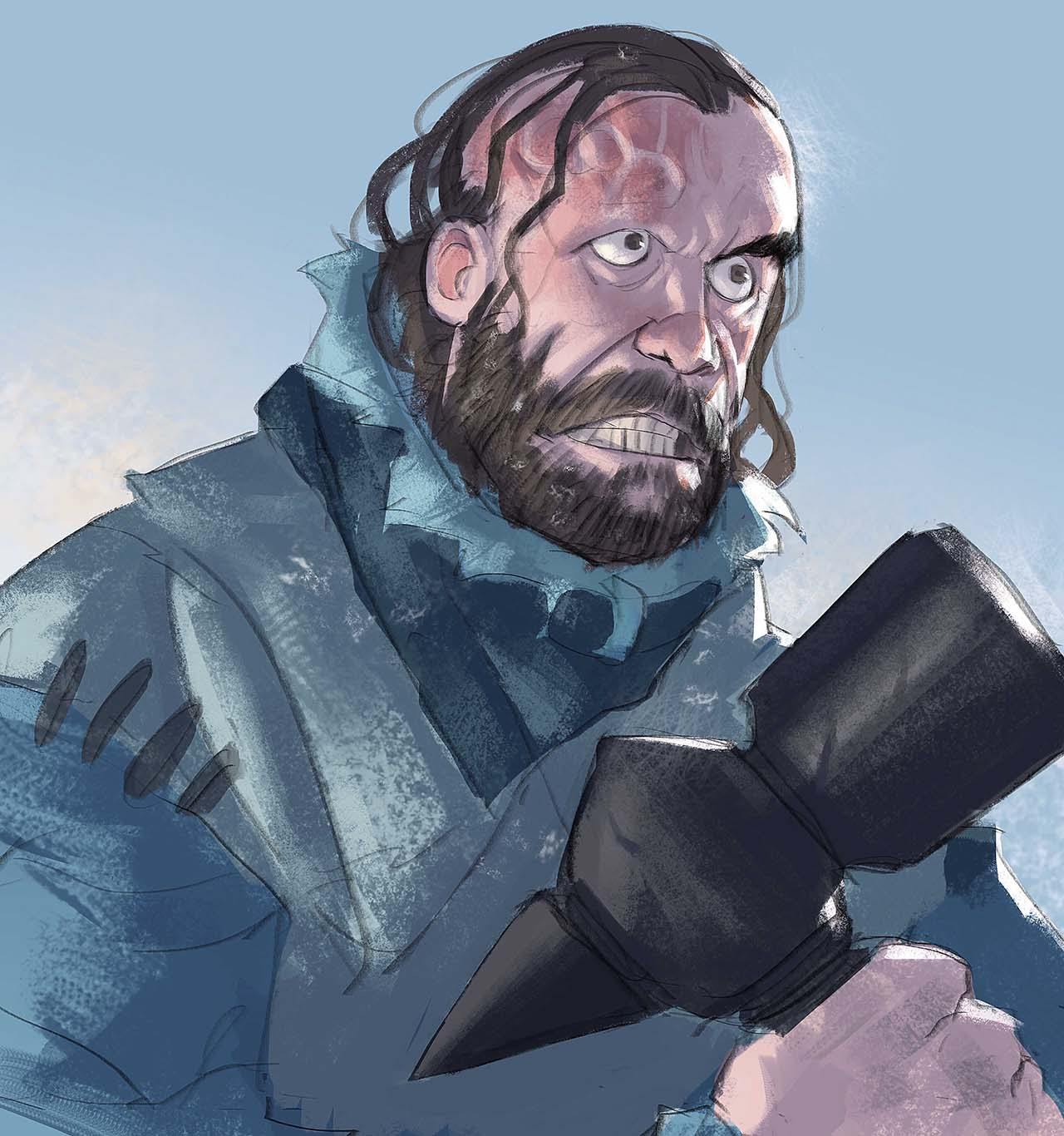 Artist Creates Unique Character Arts From Game Of Thrones – Sandor Clegane (Hound)Character Art By Ramón Nuñez