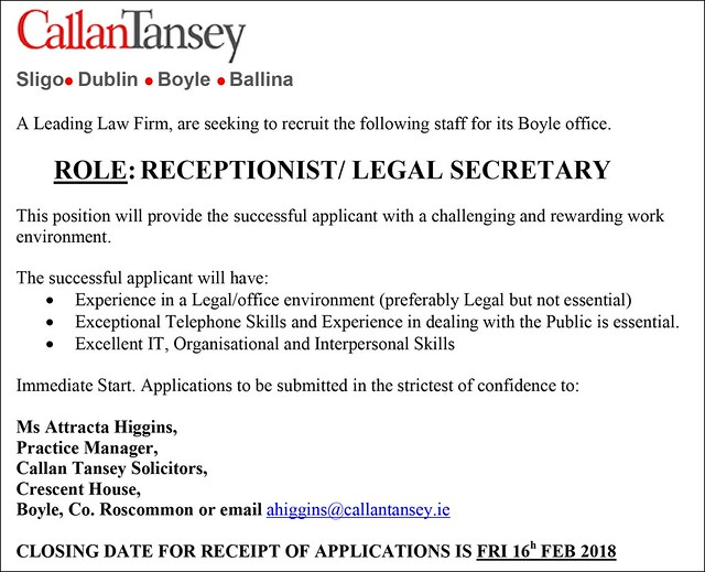 Advert-for-Receptionist-Boyle-Feb-2018-(3)