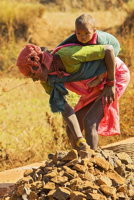 Female roadworker