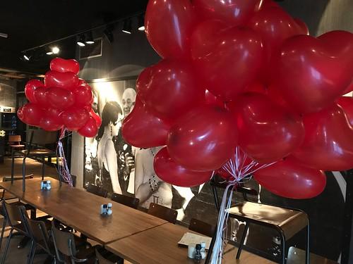 Heliumballonnen Hartballonnen Valentijnsdag Brasserie Muller en Co Berkel en Rodenrijs