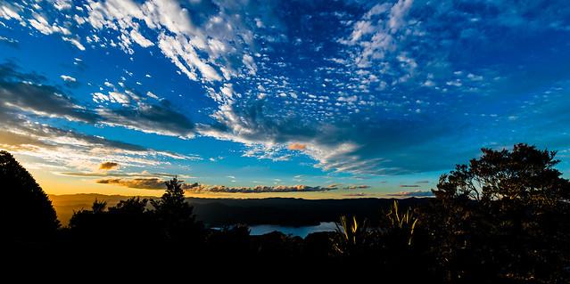 Sunset at Waikeramoana lake