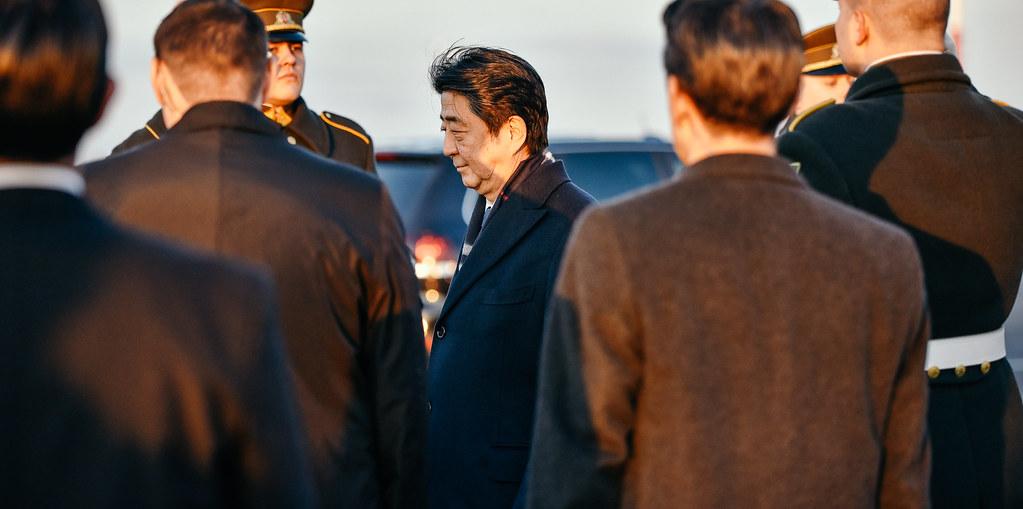Ministras Linas Linkevičius dalyvauja Japonijos Ministro Pirmininko Shinzo Abe vizito Lietuvoje susitikimuose