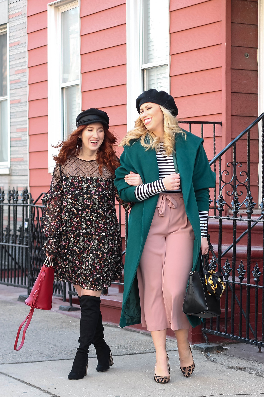 Blogger Friends Winter Hats Vintage Inspired Outfits Style Inspiration