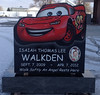 Custom Child Headstone Lightning McQueen