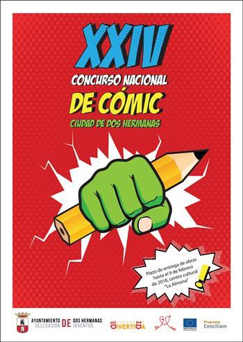Cartel del concurso de cómic
