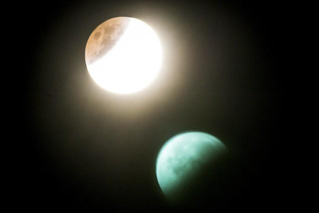 Blue Blood Moon 2018 & Lens Flare