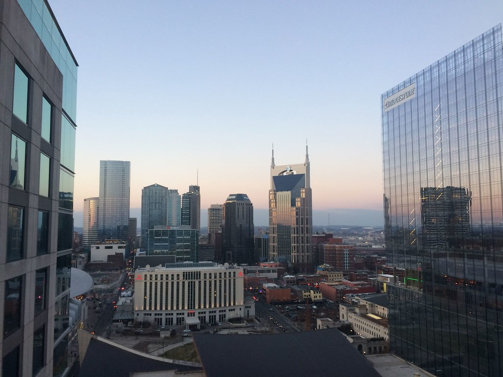 View from room 1929 at the Omni Nashville