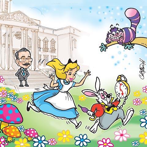Caricatura de las maravillas