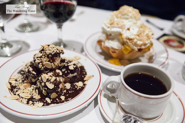 Desserts and coffee