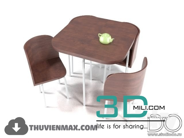 72  Table + Chair CHILDROOM 3dsmax Free Download - 3D Mili