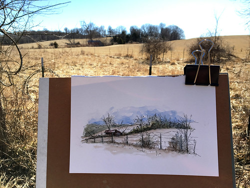Sketching at Ritter Springs Park
