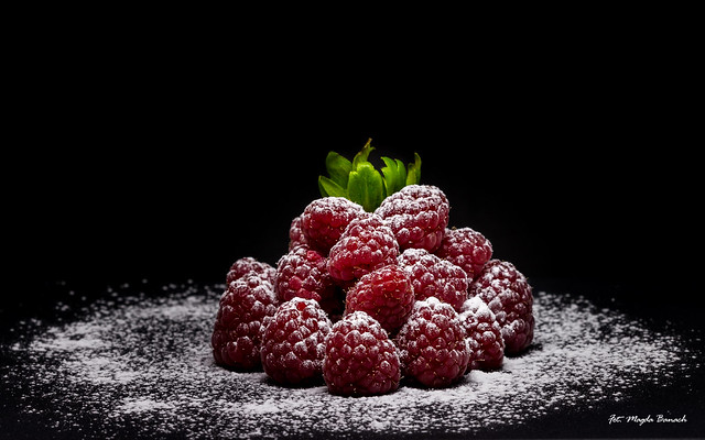 Snowy raspberries