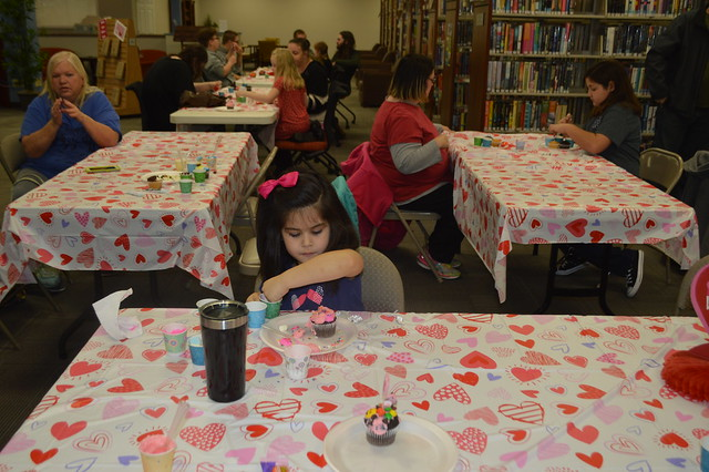 Valentine Cupcake Decorating contest 4th annual library
