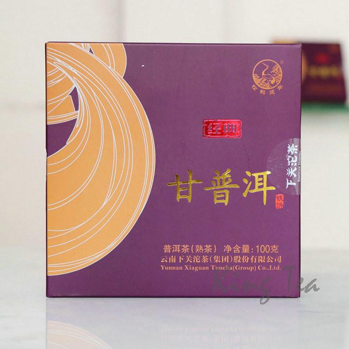 2017 XiaGuan GanPuEr Iron Cake  100g 5=500g Puerh Ripe Tea Shou Cha