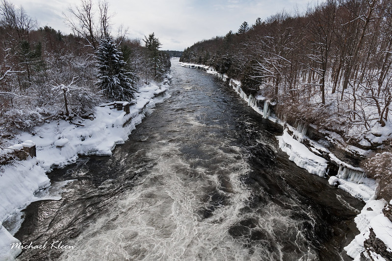 Black River at Great Bend in Winter