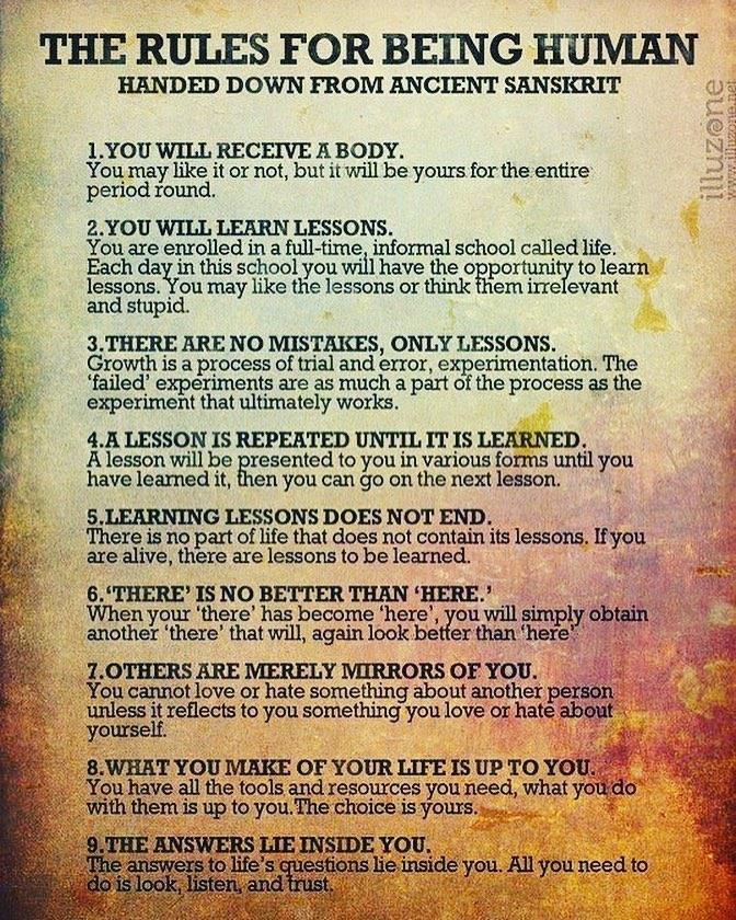 Laws for Being Human