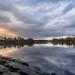 Sunset at Gorton Reservoir, Manchester.