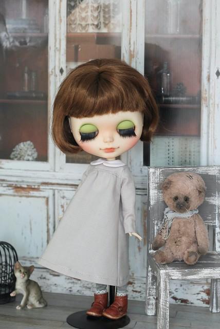 Blythe dress with collar