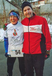 Gisela mit Josef im Ziel