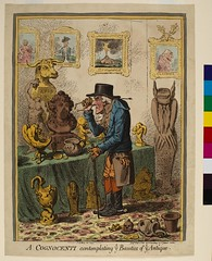 A Cognocenti contemplating ye Beauties of ye Antique, 1801, by James Gillray (1756-1815)