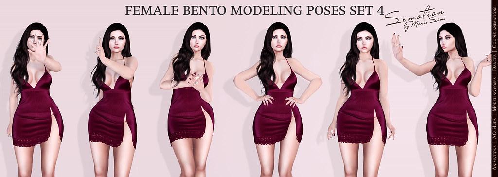 SEmotion Bento Modeling Poses Set 4 for C88 - TeleportHub.com Live!