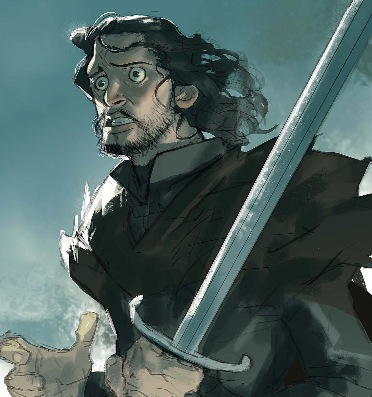 Artist Creates Unique Character Arts From Game Of Thrones – Jon Snow Character Art By Ramón Nuñez