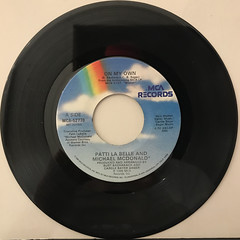 PATTI LA BELLE AND MICHAEL MCDONALD:ON MY OWN(RECORD SIDE-A)