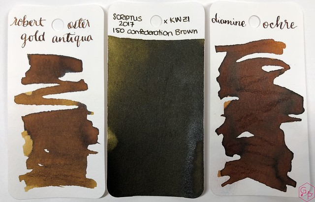 Ink Shot Review @RobertOsterInk Gold Antiqua 2