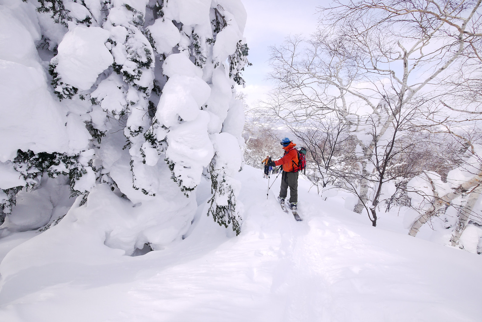 Mt. Furano backcountry ski touring (Hokkaido, Japan)