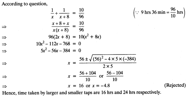 Quadratic Equations Chapter Wise Important Questions Class 10 Mathematics 14