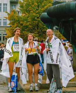 Zielbereich Kurfürstendamm, Berlin-Marathon 1990