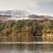 Autumn mist on Lake District mountains