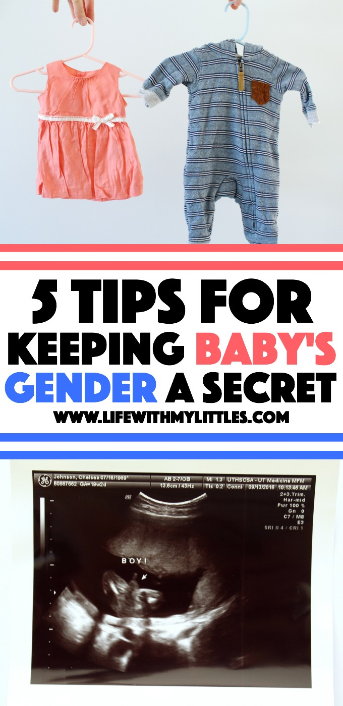 Keeping your baby's gender a secret? Don't want to know what you're having until they're born? If you're planning on waiting until your baby is born to find out the gender, this is a great post! 5 tips for keeping your baby's gender a secret until they're born!