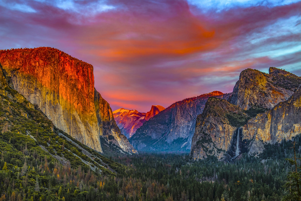 Image result for Yosemite sunset