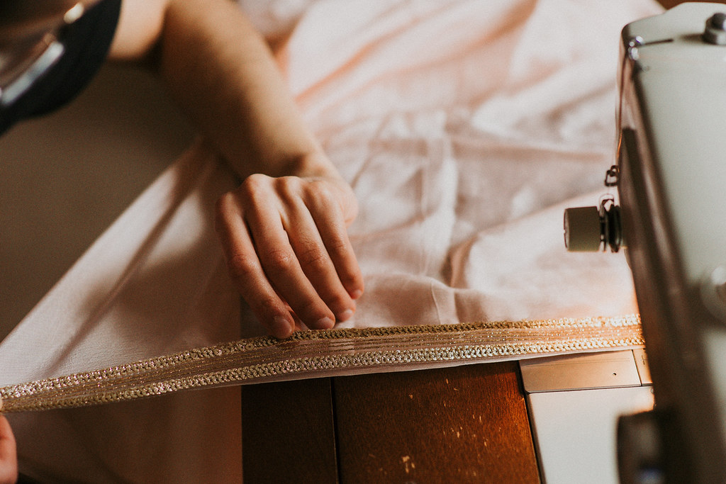 DIY - How to Sew Gotta on Dupatta