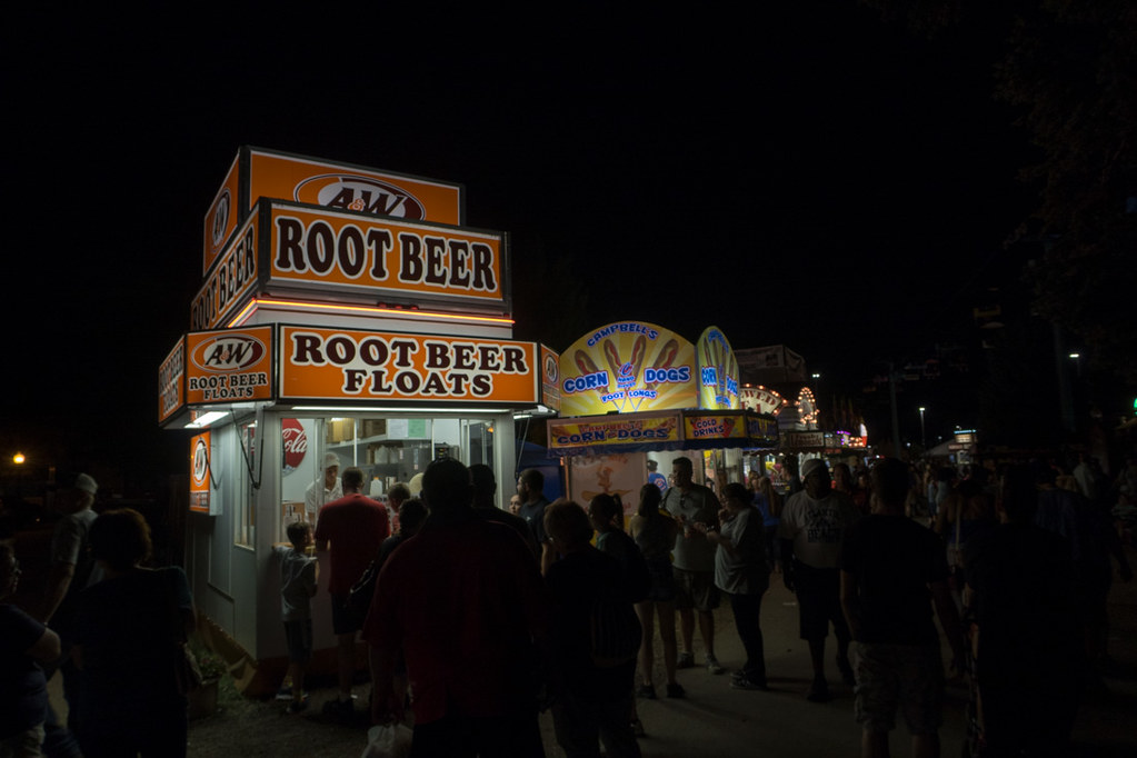 Root Beer Floats Booth at Iowa State Fair