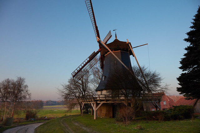 die Mühle bei Sonnenuntergang