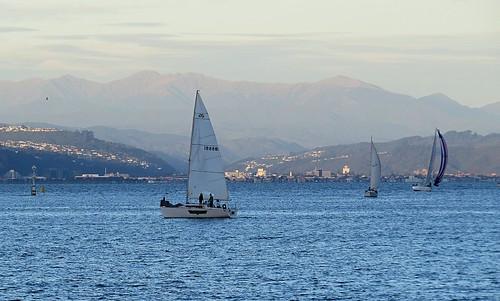 <p>Sailing at dusk</p>