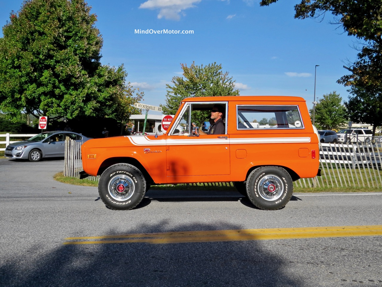Orange Ford Bronco Side