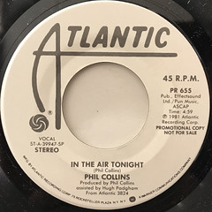 PHIL COLLINS:IN THE AIR TONIGHT(LABEL SIDE-A)