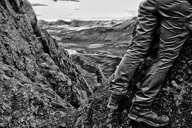 Republic of Iceland - Hiking into the interior - Monochrome