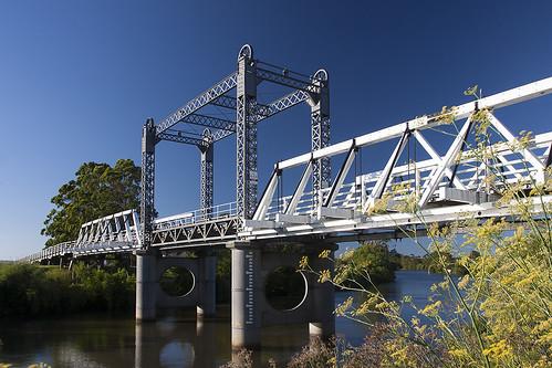 Hinton Bridge, Paterson River, Hinton, NSW, Australia.